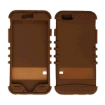 Rocker Series Skin Protector Case for Apple iPhone 6 (Brown)