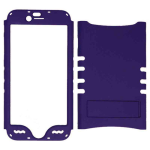Rocker Series Snap-On Protector Case for Apple iPhone 6 (Fluorescent Extra Dark Purple)