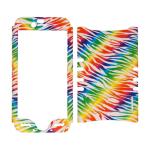 Rocker Series Snap-On Protector Case for Apple iPhone 6 (Rainbow Zebra Print on White)
