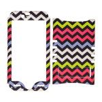 Rocker Series Snap-On Protector Case for Apple iPhone 6 (Yellow/Purple/Blue/White Chevron on Black)