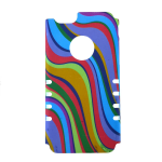 Rocker Slim Snap. Colorful Vertical Waves