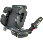 Bracketron IPM-197-BL PowerDock Dual Auxiliary USB Power Mount with Grip-iT for GPS