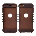 Rocker Series Silicone Skin Protector Case for Apple iPod Touch 5 (Brown)