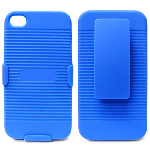 J3X Holster Shield Combo, Blue for Apple iPhone4