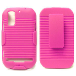 Unlimited Cellular J3X Holster Shield Combo for Motorola MB855 (Pink)