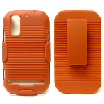Unlimited Cellular J3X Holster Shield Combo for Motorola MB855 (Red)