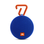JBL CLIP 2 Rugged Portable Bluetooth Speaker w/ Built-in Carabiner - IPX7 Waterproof - BLUE