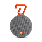 JBL CLIP 2 Rugged Portable Bluetooth Speaker w/ Built-in Carabiner - IPX7 Waterproof - GRAY
