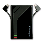 Kensington 1000mAh Rechargeable Mini USB & Micro USB Pocket Battery for SmartPhones (Black) - K38056US