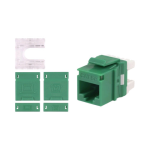 Signamax/AESP - RJ45 - Green CAT5e Keystone Male