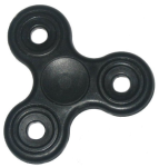 KuKu Fidget Hand Finger Spinner Toy - Black (For Kids, Adult, Anxiety, Stress Relief , Desk)