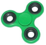 KuKu Fidget Hand Finger Spinner Toy - Green (For Kids, Adult, Anxiety, Stress Relief , Desk)