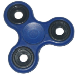 KuKu Fidget Hand Finger Spinner Toy - Blue (For Kids, Adult, Anxiety, Stress Relief , Desk)