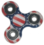 KuKu Fidget Hand Finger Spinner Toy - American Flag (For Kids, Adult, Anxiety, Stress Relief , Desk)