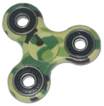 KuKu Fidget Hand Finger Spinner Toy - Camo (For Kids, Adult, Anxiety, Stress Relief , Desk)