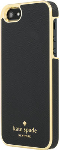 kate spade new york Saffiano leather Wrap Case for iPhone 5/5S/SE - Saffiano Black/Gold