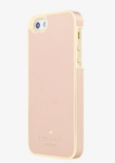 kate spade new york Wrap Case for iPhone 5/5s/SE - Saffiano Leather Rose Gold