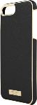 kate spade new york Saffiano leather Wrap Case for iPhone 7 Plus - Saffiano Black/Gold
