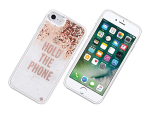 kate spade new york Liquid Glitter Case for iPhone 7 - Hold the Phone/Rose Gold Glitter /Clear