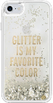 kate spade new york Clear Liquid Glitter Case for iPhone 7 - Glitter is My Favorite Color (Gold)