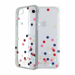 kate spade new york Flexible Hardshell Case for iPhone 7 - Confetti Dot Clear/Multi/Gold Foil