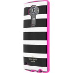 Kate Spade New York Flexible Hardshell Case for LG G4 (Candy Stripe Black/White/Pink)