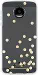 kate spade new york Flexible Hardshell Case for Moto Z Droid - Confetti Dot Gold Foil/Clear