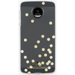 Kate Spade New York Hardshell Case for Motorola Moto Z Force Droid (Clear Confetti)