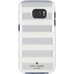 kate spade new york Flexible Hardshell Case for Samsung Galaxy S7 - Candy Stripe Silver Foil/Cream