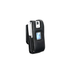 Infinity Padded Lambskin Case with Swivel Belt Clip for Sanyo Katana - Black