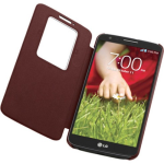 LG QuickWindow Folio Case for LG G2 (Only for Sprint, T-Mobile, AT&T) - Burgundy