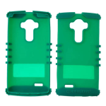 Rocker Series Silicone Skin Protector Case for LG G4 (Blueish Green)