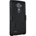 Verizon Kickstand Shell Case Holster for LG G4 - Black