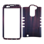 Rocker Series Snap-On Protector Case for LG K7 (Wood Pattern Amber with Stand)