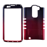 Rocker Series Snap-On Protector Case for LG K7 (Two Tones/Black and Red)
