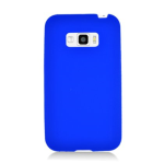 Silicone Skin Case for LG Optimus Elite/Optimus M+/Optimus Plus/Optimus Quest/LS696 - Retail Packaging - Blue