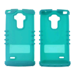 Rocker Series Skin Protector Case for LG G Stylo LS770 (Fluorescent Blueish Green)