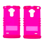 Rocker Series Skin Protector Case for LG G Stylo LS770 (Fluorescent Magenta)