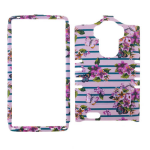 Rocker Series Snap-On Protector Case for LG G Stylo LS 770 (Flowers Design)