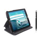 Verizon Folio Case with Screen Protector and Stylus Pen Bundle LG G Pad 8.3 - Black