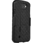 Verizon Shell Holster Combo with Kickstand for LG K4 - Black