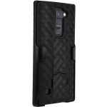Verizon Shell Holster Combo with Kickstand for LG K8 V - Black