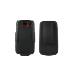 Verizon Rubberized Belt Clip Shell Holster Combo Case for LG Vortex VS660 -Black