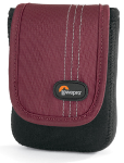 Lowepro Dublin 30 Slim Profile Pouch for Cameras and Compact Video Cameras (Black/Red)
