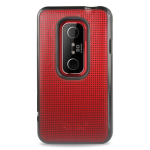 Reiko - Leather Protector Cover for HTC EVO 3D 04 - Red