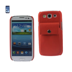 Reiko - Leather Protector Cover Case for SAMSUNG GALAXY S III I9300 - Orange