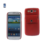 Reiko - Leather Protector Cover Case for SAMSUNG GALAXY S III I9300 - Red
