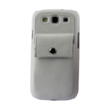 Reiko - Leather Protector Cover Case forSAMSUNG GALAXY S III I9300 - White