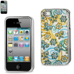 Reiko - Silver-Plated Protector Cover for Apple iPhone4/4S