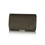 PREMIUM HORIZONTAL LUXMO LU8 SERIES POUCH FOR HTC HD2 / MOTOROLA MB810 & SIMILAR SIZED PHONES - BROWN